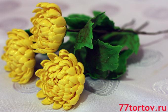Хризантемы из мастики эти цветы