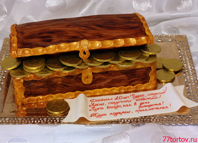 Торт сундук денег фото
