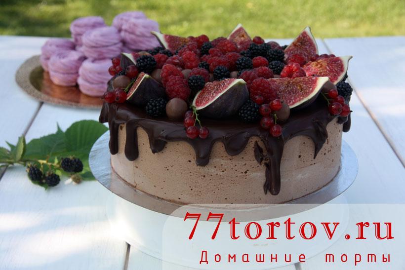 Торт птичье молоко шоколадный рецепт с пошагово