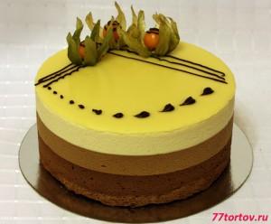 Торт 3 шоколада с физалисом