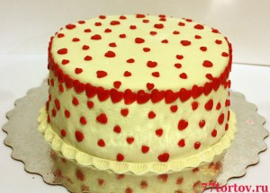 Торт ко дню влюблённых Святого Валентина