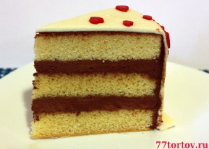 Торт в разрезе - кусок