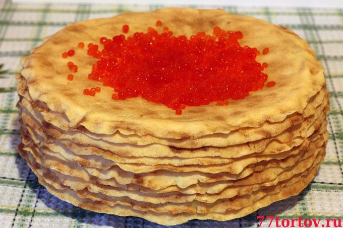 Торт Блины с икрой