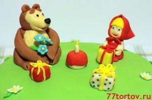 Фигурки из мастики для торта Маша и Медведь