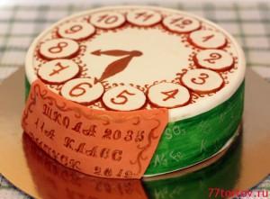 Торт-Часы на выпускной вечер