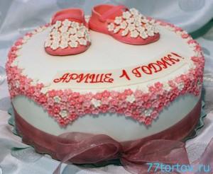 Торт с детскими сандаликами