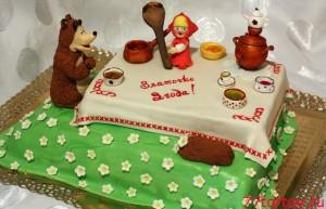 Торт Маша и Медведь - День варенья