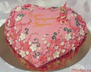 Торт в форме сердца с феей