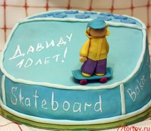 Торт со скейтбордистом