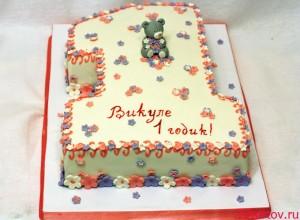 Торт цифра 1