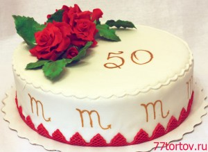 Торт Киевский с розами