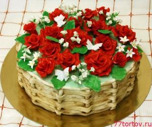 Киевский торт с розами