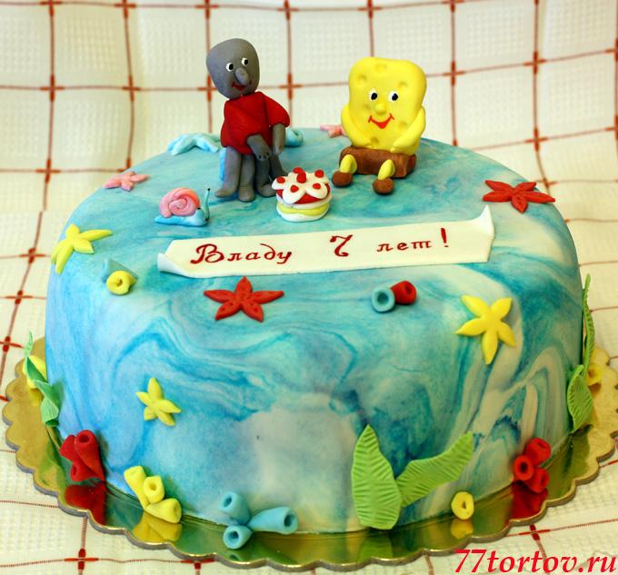 Торт Спанч Боб и Сквидвард