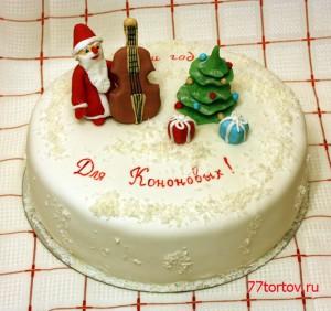 Торт Дед Мороз и контрабас