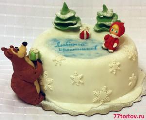 Торт Маша и Медведь зимой