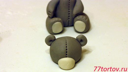 Мишка своими руками из мастики