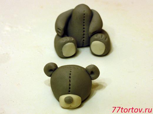 Мишка Тедди из мастики: мастер-класс по лепке
