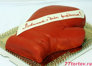 Торт в виде перчатки