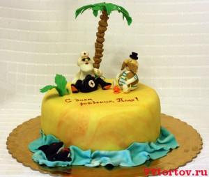 Торт с фигурками доктора Айболита и Бармалея