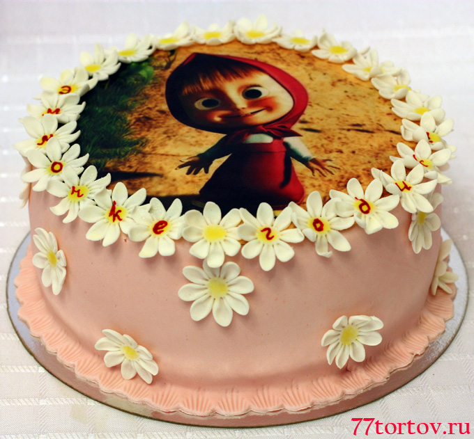 торт с вафельной картинкой