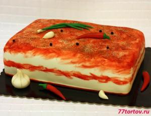 Торт в виде сала