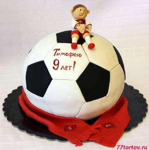 Торт для юного болельщика московского Спартака