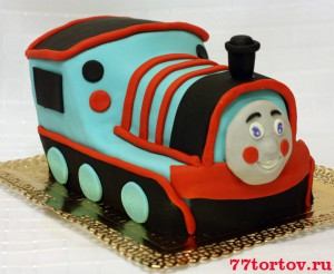Торт паровозик Томас