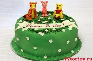 Торт с фигурками Винни, Тигры и Пятачка