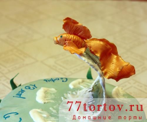 Золотая рыбка для торта