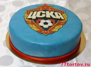 Круглый торт с эмблемой ЦСКА