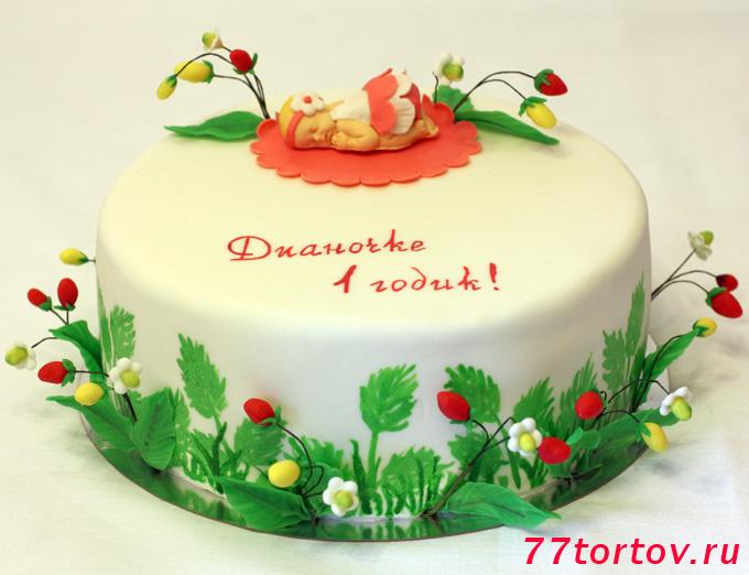 Торт земляничный с малышкой
