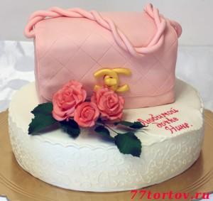 Торт в виде сумки Шанель