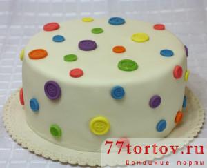 Торт с пуговицами из мастики
