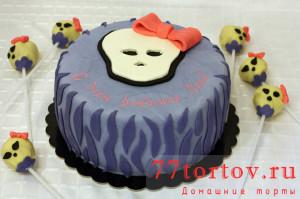 Торт Монст Хай с кейк попсами