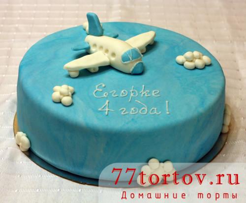 Торт с самолётом