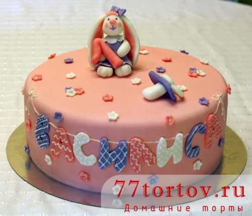 Торт с вислоухим зайчиком