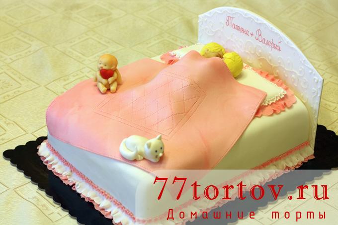 Торт Кровать с влюблёнными