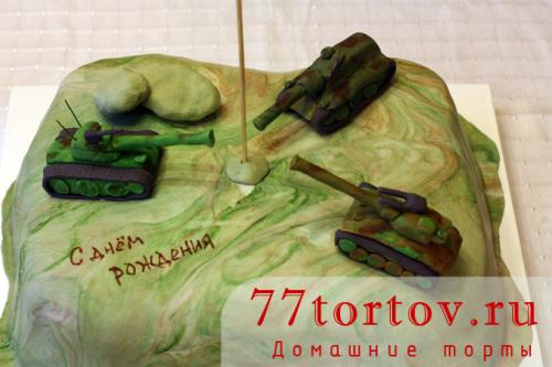 Торт с танками из игры World of tanks