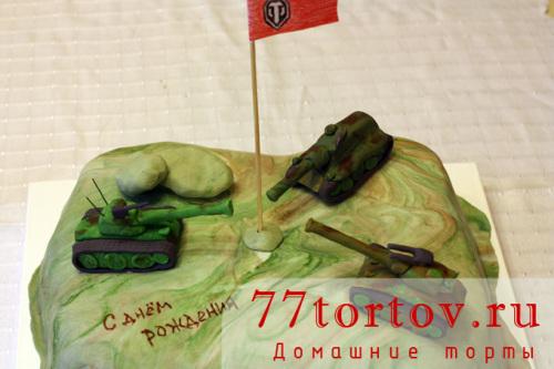 Торт с танками из игры WOT