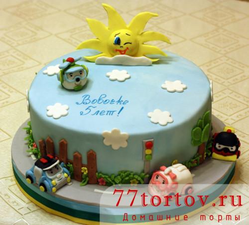 Торт Робокар Поли
