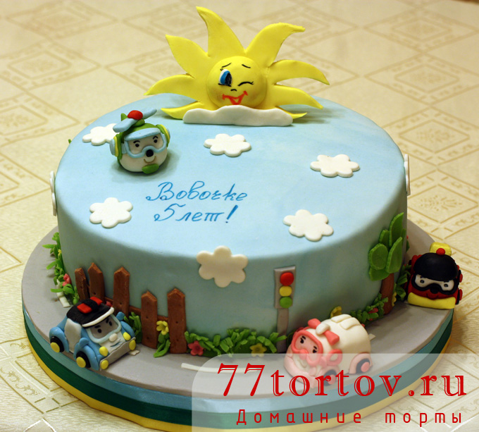 торт поли робокар из мастики фото