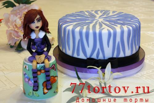 Мастичная Клодин Вульф и торт