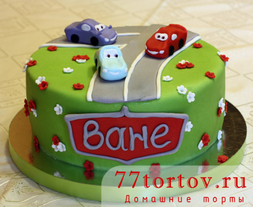 Торт с тачками