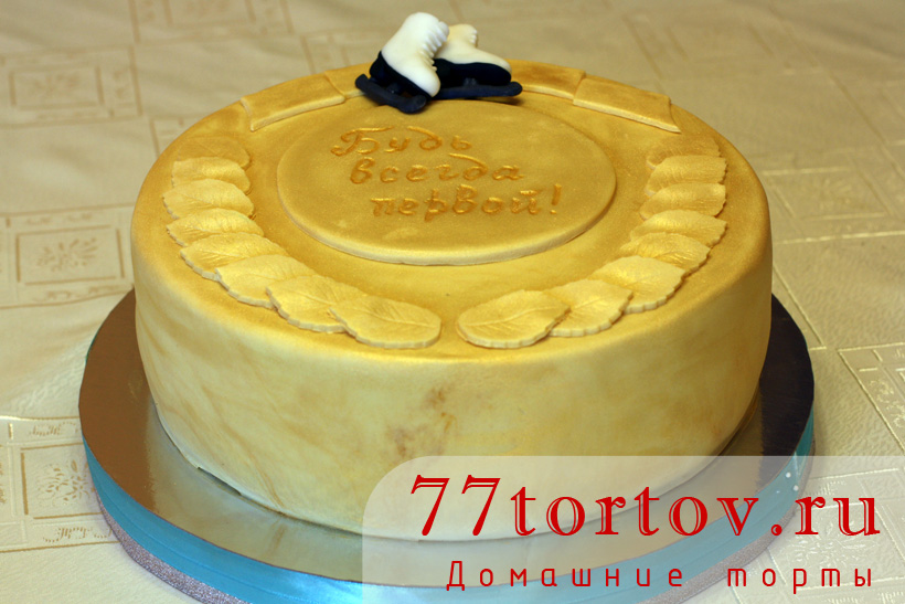 Торт для юной фигуристки