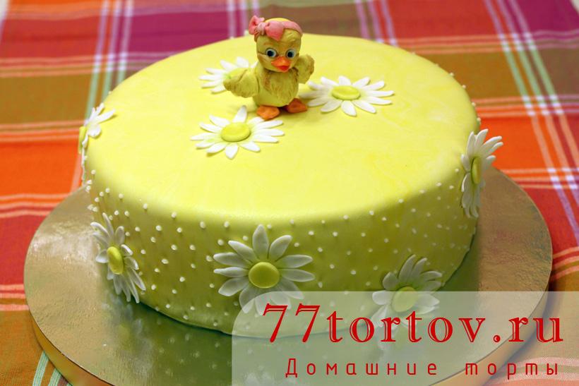Торт с птенчиком