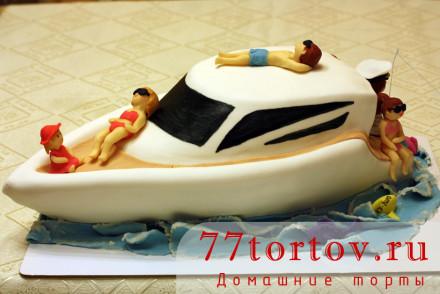 Торт Яхта из мастики