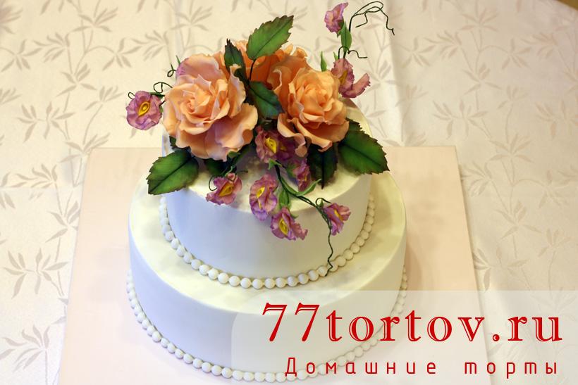 Двухъярусный торт на 17-летие