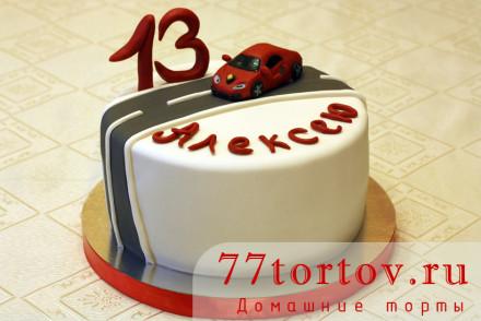 Торт с фигуркой Ламборджини