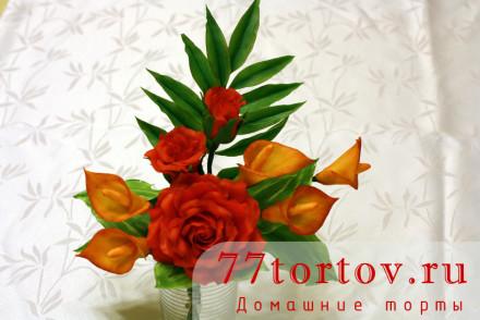 Букет цветов из мастики