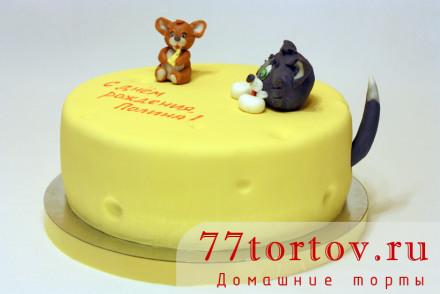 Торт с фигурками Тома и Джерри